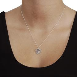 Tressa Sterling Silver Lotus Flower Necklace