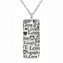 Tressa Sterling Silver Live, Laugh, Love Necklace