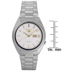 Seiko Men's Stainless Steel Silvertone Automatic Watch