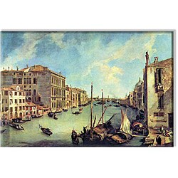 Canaletto 'Grand Canal at San Vio' 24x36-inch Canvas Art