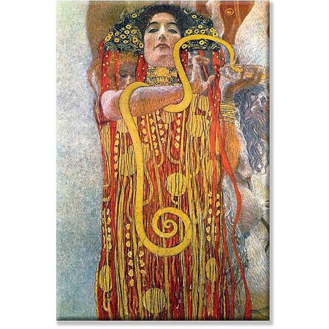 Gustav Klimt 'Hygeia' Canvas Art
