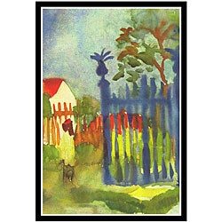 August Macke 'Garden Gate' Framed Art Print