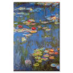 Claude Monet 'Water Lilies #4' Canvas Art