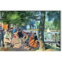 Claude Monet 'La Grenouillere' Canvas Art