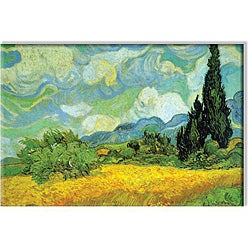 Vincent Van Gogh 'Cypresses' Small Contemporary Canvas Art