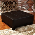 Christopher Knight Home Darlington Expresso Bonded Brown Leather Ottoman