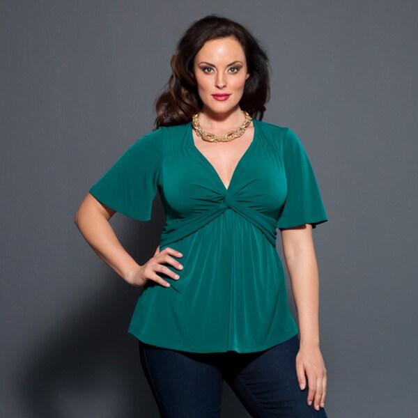 Kiyonna Women's Plus Size 'Abby' Twist-front Top