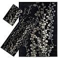 Set of 3 Black Floral Rugs (1'8 x 2'6/ 2'2 x 5'11/ 5'3 x 7'6)