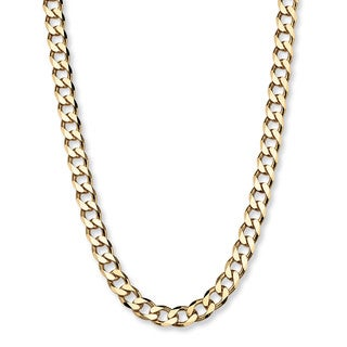 "PalmBeach Curb-Link Chain in 18k Gold over .925 Sterling Silver 22"" Tailored"