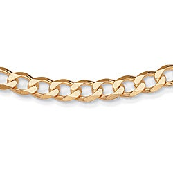 Toscana Collection Yellow Gold over Sterling Silver 6mm Curb Chain (22-inch)