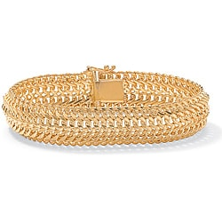 Toscana Collection 18k Yellow Gold over Sterling Silver Saduza Link Bracelet (14 mm)