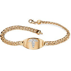 Toscana Collection 18k Yellow Gold over Sterling Silver Medical Emergency Bracelet