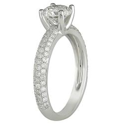 18k White Gold 1 3/5ct TDW Diamond Engagement Ring (G-H, SI1-SI2)