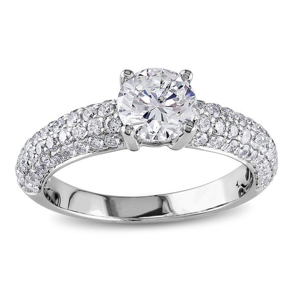 Miadora Signature Collection 18k White Gold 1 3/5ct TDW IGL-certified Diamond Ring (G-H, SI1-SI2)