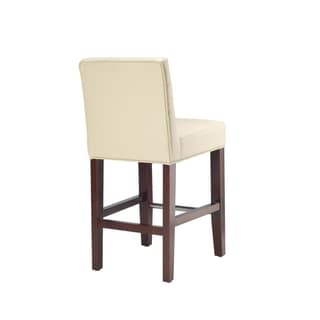 Noho Ivory Leather Counter Stool