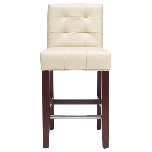 Safavieh 258 Inch Noho Ivory Leather Counter Stool