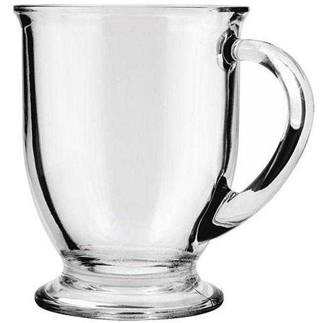 Anchor Hocking 16-oz Glass Cafe Mugs (Pack of 6)