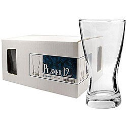 Challenger 12-oz Pilsner Glasses (Pack of 12)