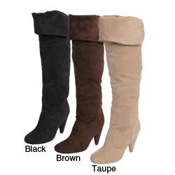 Glaze by Adi Women's Over-the-knee Microsuede Boots