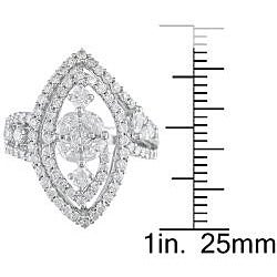 18k White Gold 1 3/8ct TDW Diamond Fashion Ring (G-H, SI1-SI2)