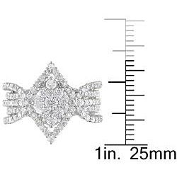 18k White Gold 1 7/8ct TDW Diamond Ring (G-H, SI1-SI2)