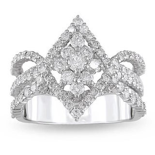 Miadora 18k White Gold 1 7/8ct TDW Diamond Ring (G-H, SI1-SI2)