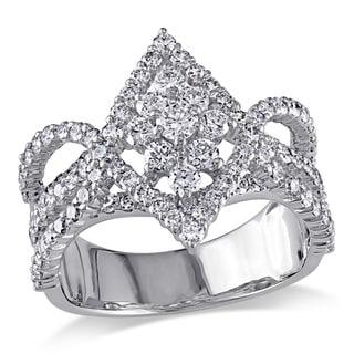 Miadora 18k White Gold 1 7/8ct TDW Diamond Ring (G-H, SI1-SI2)