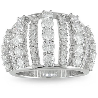 Miadora 18k White Gold 2 1/3ct TDW Diamond Fashion Ring (G-H, SI1-SI2)