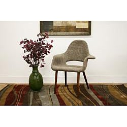 Forza Taupe Twill Mid-Century Style Accent Chairs (Set of 2)