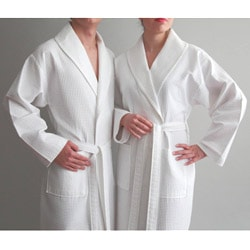 Authentic Hotel and Spa Turkish Cotton Unisex Waffle Weave Bath Robe