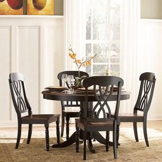 TRIBECCA HOME Mackenzie 5-piece Country Black Dining Set