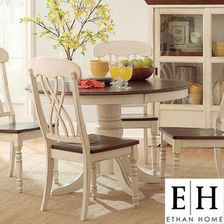 ETHAN HOME Mackenzie 5-piece Country Antique White Dining Set