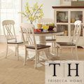 TRIBECCA HOME Mackenzie 5-piece Country Antique White Dining Set