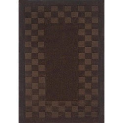 Hand-tufted Trendy Chocolate Wool Rug (5' x 8')