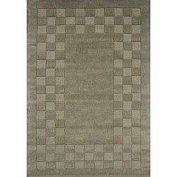 Hand-tufted Trendy Green Wool Rug (8' x 11')