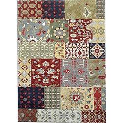 Hand-tufted Motif Oriental Wool Rug (5' x 8')