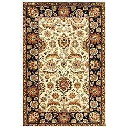 Hand-tufted Ivory/ Black Oriental Wool Rug (9' x 13')