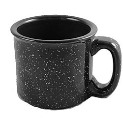 Santa Fe Black Ceramic Mugs (Pack of 4)
