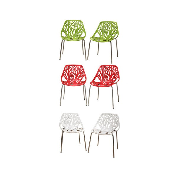 Birch Sapling Plastic Accent / Dining Chairs (Set of 2)