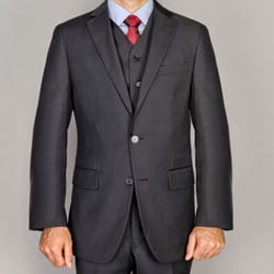 Men's Black 3-piece Suit
