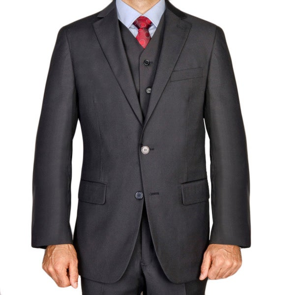 Men's Black 3-piece Suit Size 40R/34W(As Is Item)
