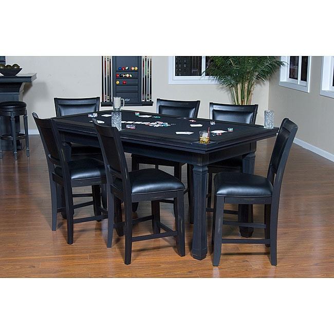 fremont 3 in 1 black game table chair set overstock shopping big