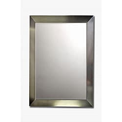 Stainless Steel Framed Beveled Mirror