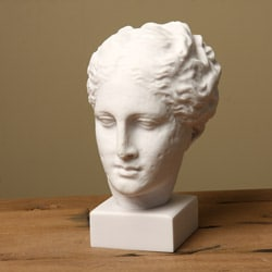 White Bonded Marble Hygeia 12-inch Museum Replica Head Statue