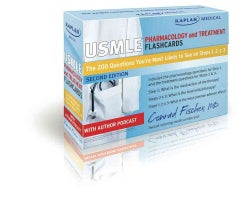 Kaplan Medical USMLE Pharmacology and Treatment: The 200 Questions You?re Most Likely to See on Steps 1, 2 & 3 (Cards)