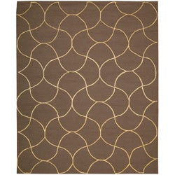 Nourison Cambria Cafe Brown Wool Blend Rug (8' x 10')