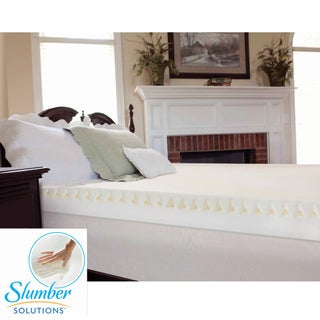 Slumber Solutions Highloft Mattress MakeOver 4-inch Memory Foam Mattress Topper