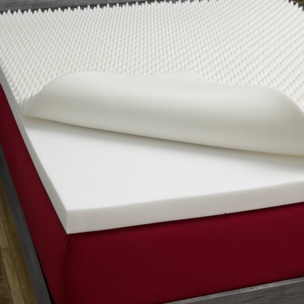 Slumber Solutions Highloft Mattress MakeOver 5-inch Memory Foam Mattress Topper