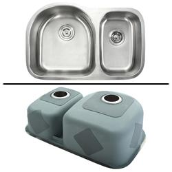 Kraus Kitchen Combo Set Stainless Steel Sat-in Undermount 2-bowl Sink