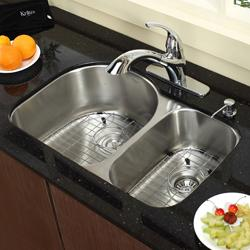 Kraus Stainless Steel Satin Undermount 2-bowl Sink